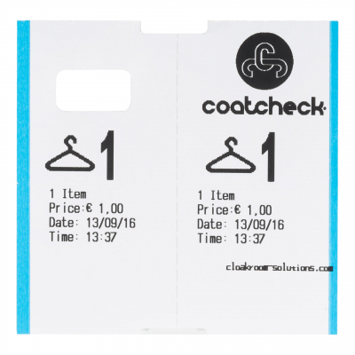 CoatCheck cloakroom tickets, 14x 325 tickets, assorted colours - special offer 2 boxes £ 219,-