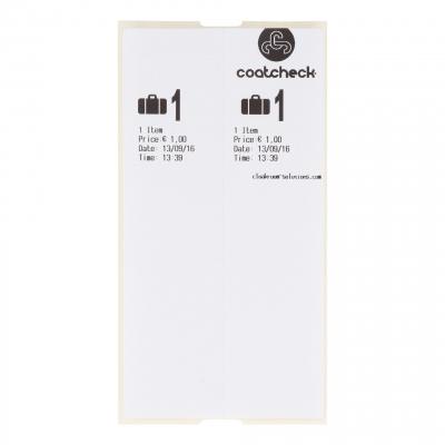 CoatCheck zelfklevende bagagelabels, 14x160 tickets, wit
