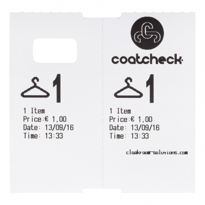CoatCheck garderobetickets wit