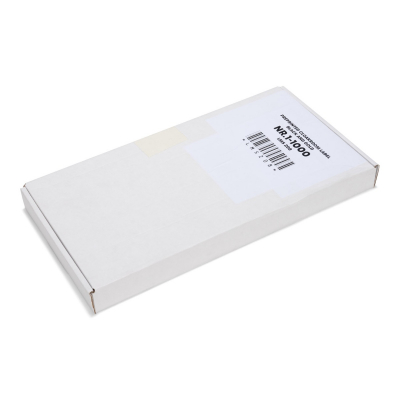 Box with 1000 pre-printed paper cloakroom tickets, black with gold print, numbers 1 - 1000