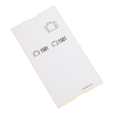 500 self-adhesive luggage tags, White, pre-printed, series 1501-2000