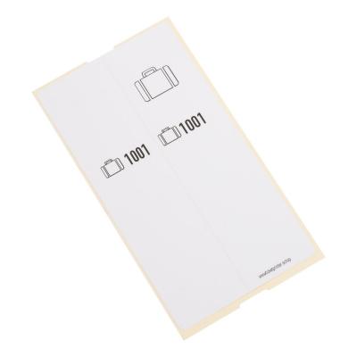 500 self-adhesive luggage tags, White, pre-printed, series 1001-1500 one piece