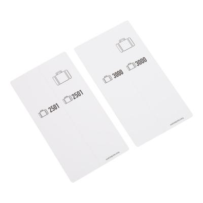 500 self-adhesive luggage tags, White, pre-printed, series 2501-3000