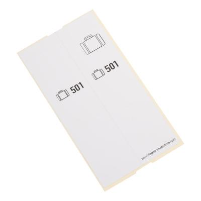 500 self-adhesive luggage tags, pre-printed, series 501-1000, white