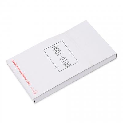 Plastic Garderobenummers 1-100