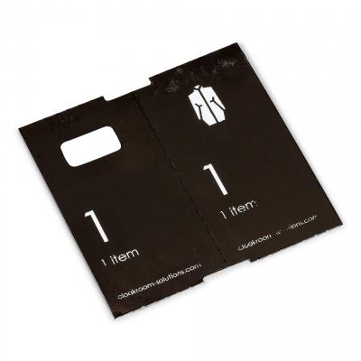 500 deluxe voorgeprinte garderobtickets, zwart