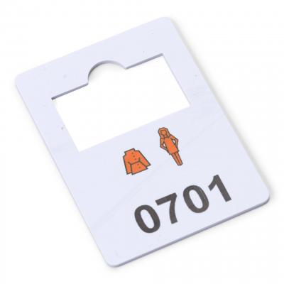 plastic garderobenummers 701-800