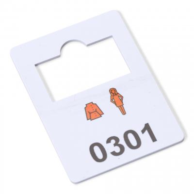 plastic garderobenummers 301-400