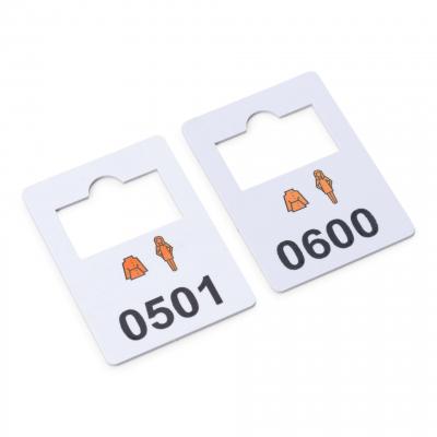plastic garderobenummers 501-600
