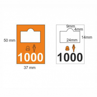 Plastic cloakroom tags 0201-0300