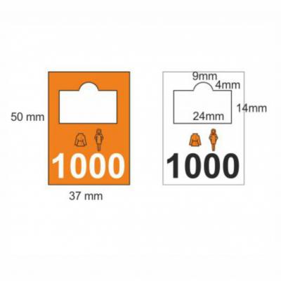 Plastic cloakroom tags 1001-2000