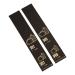 500 self-adhesive luggage tags, pre-printed, Black with gold print, series 501-1000