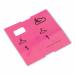 1000 voorgedrukte garderobetickets, roze