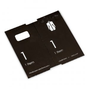 1000 voorgeprinte garderobtickets, zwart