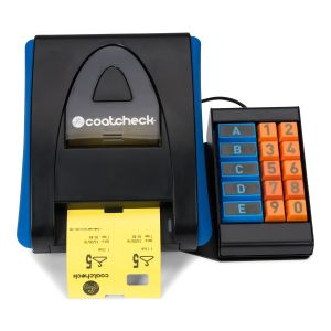 Coatcheck OneFive ticket printer + keyboard