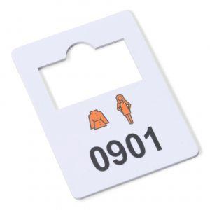 plastic garderobenummers 901-1000
