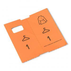 1000 voorgeprinte garderobetickets, oranje